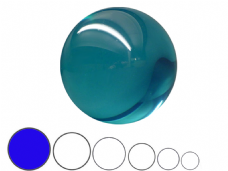 Jac Products Sky Blue Translucent 100mm Acrylic Contact Ball